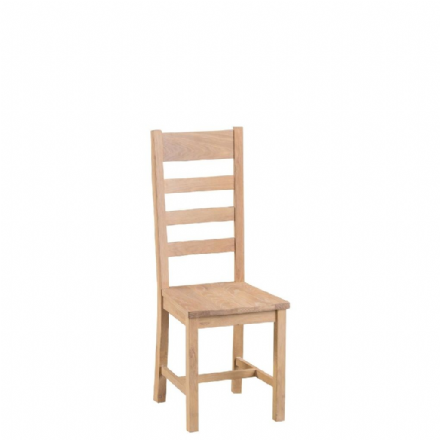 Malmo Oak Ladder Back Chairs with Wooden Seat